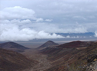 Death Valley - Clouds and Hills