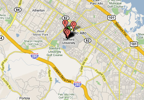 Stanford University - Area Map